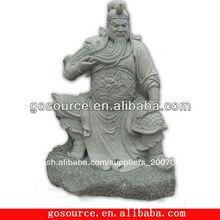 guan yu estatua de talla de piedra