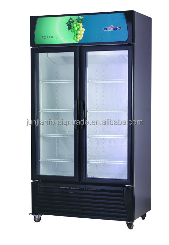 Guangzhou Oem Factory Bar Equipment Double Door Desk Top Glass Door