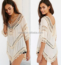 C21292B V Neck Fashion Women Beach Wear Clothing