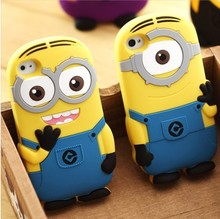 alibaba china supplier mobile phone accessory 3d despicable me minions silicone rubber case for iphone 5