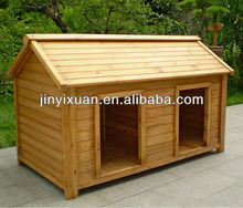 Wood Double Dog Kennel / Outdoor Large Dog House for Two