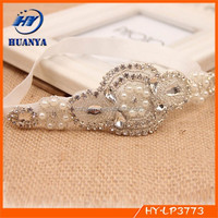 Korean Baby Elastic Rhinestone Headband Handmade Beads Crystal Hairbands