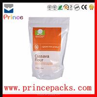 Heat seal plastic stand up zipper bag food packaging