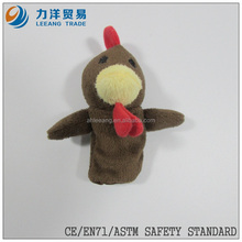 Plush hand/finger puppets(cock), Customised toys,CE/ASTM safety stardard