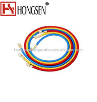 """1/4"""" refrigerant charging hose With SealRight low loss anti-blow back fitting"""