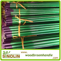 plain pvc coated wooden stick for mop