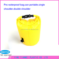 Hot sell pvc plastic waterproof dry bag for camping and hiking