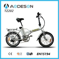 Rear rack folding e bike/electric bicycle TZ202 with 8 fun motor tourney 6 speed gear