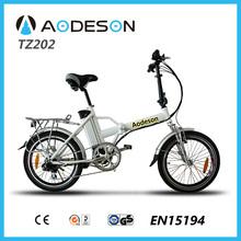 Rear rack folding e bike/electric bicycle TZ202 with 8 fun motor tourney 6 speed gear