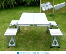 Fashion design outdoor furniture folding white table in fire-proof plate