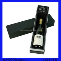 Recycled paper chipboard wine carrier packaging box single bottle wine cardboard box
