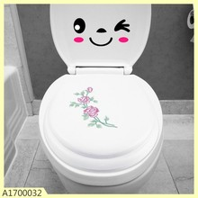 high qulaity 18 inches embroider plastic toilet seat cover