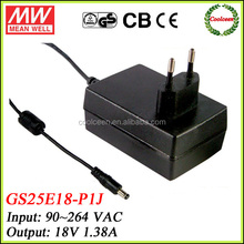 Meanwell universal adapter 18v GS25E18-P1J
