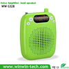 mini portable amplifier speaker with solar power system and condenser headset microphone