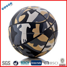 Camouflage Rubber official basketball match ball