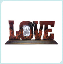 Resin Western Decor LOVE Tool Leather-Look 2.5x3.5 Photo Frame