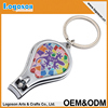 Colorful Cheap metal custom toe nail clippers keychain wholesale