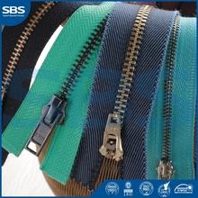 closed end plastic zipperfor garment,SBS metal teeth zipper roll metal zipper,12# Open-end nylon zipper