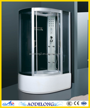 FM radio shower cabin, Back support safety tempered glass shower room with good price