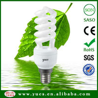 fluorescent light 14W T2 tube half spiral energy saving lamp half spiral energy saving bulbs