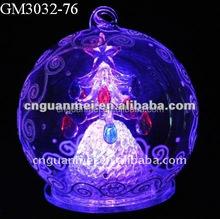 christmas led glass ball for hanging decoration