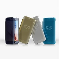 Hot selling Amorous Clear View flip mirror case for samsung galaxy s6