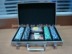 Fashion 200pc aluminum poker chip set MLD-PC10