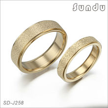 Hot sale stainless steel jewelry gold plated engagement ring for couple