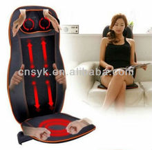 Neck and Back vibrating & rolling Car Seat massage Cushion/ personal warm car cushion massage
