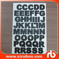 Custom removable vinyl alphabet letters sticker