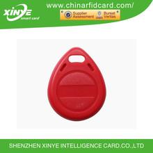 125KHz ABS waterproof RFID LF keytag with T5577 TK4100 EM4100