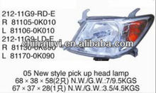 Auto parts High Quality/cheap Auto head lamp for Toyota Hilux Vigo 2005