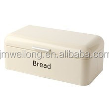Eco-friendy High Qualiy Enamel Oval OEM Galvanized Metal Bread Container/Large Capacity Canister Box