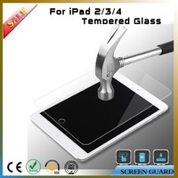 Manufacturers 2.5d 0.33mm 9H explosion-proof tempered glass screen protector for ipad 2 3 4 with retail packaging