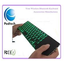 For Samsung Galaxy Tab Ultra Slim Aluminum Bluetooth Green led Keyboard