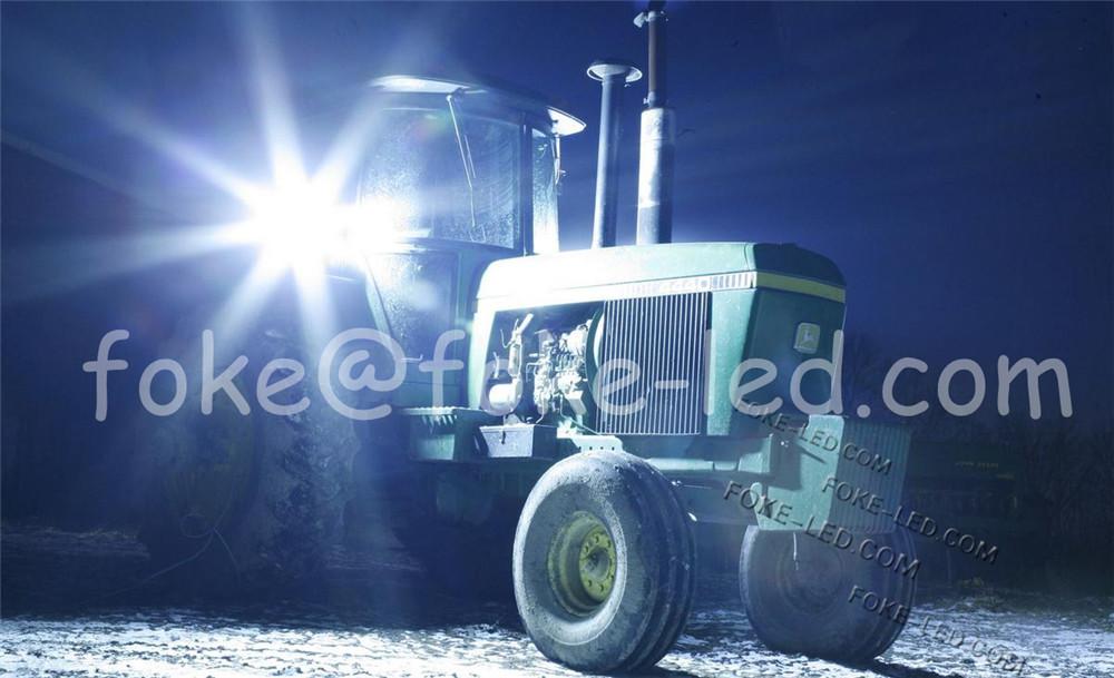 EMC 6 pouces carré Agricole véhicule lumière 40 W led tracteur travail lumière avec côté de montage et jambe