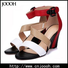 Summer European style genuine leather Women Sandal With Wedge