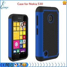 Soft gel phone cover case for Nokia lumia 530 hybrid case, shockproof case with football tattoo , 3 in 1 combo case