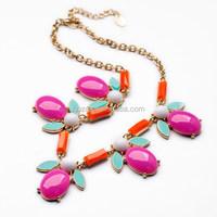 New ZAMAC made hot selling fashion acrylic necklace for fashion lady