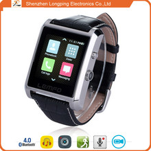 2015 china Luxury Bluetooth for smart android phone wrist smart watch