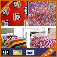 100% cotton flannel fabric for baby bedding sets