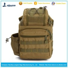 Fashion leisure camouflage one strap canvas backpack bag military
