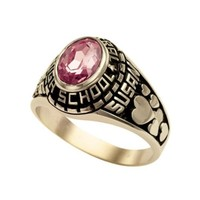 New Style Keystone Girl's Classic Oval Class Ring Wholesale