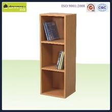 modern wooden 3 layer bookcase