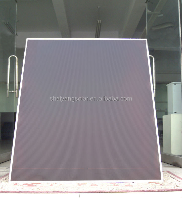 100w high transparency amorphous silicon thin film solar panel
