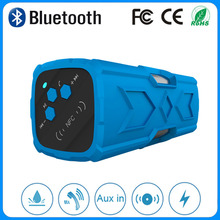 Easter day gift portable waterproof bluetooth4.0 speaker power bank speaker with key chain for mountain bike