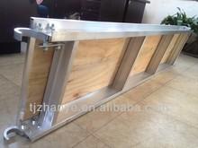 10'x19'' canadá tipo de andamios de aluminio cubiertas con madera contrachapada