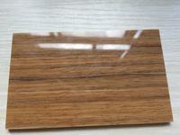 high gloss teak wood panels