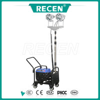 China manufacture 2*150w MH/HPS square scalable high mast portable stadium light tower