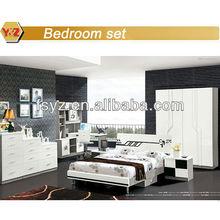 moderna cama blanco muebles de la sala
